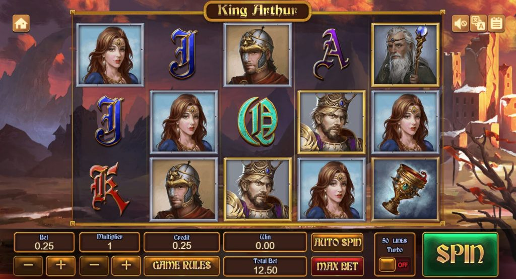 King Arthur สล็อตออนไลน์นี้ จะพาทุกคนไปรู้จักกษัตริย์อาเธอร์ กษัตริย์ผู้ที่มีชื่อเสียงโด่งดังมากอีกคน