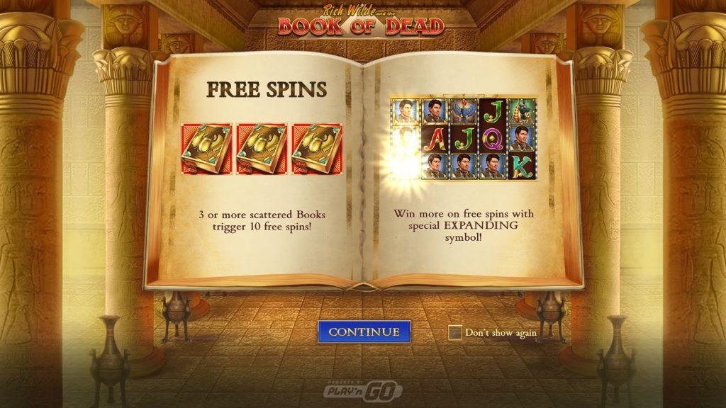 Book of Dead โบนัส สล็อตออนไลน์ ที่เพื่อนๆ สามารถและมีโอกาสได้โบนัสกันทุกคน