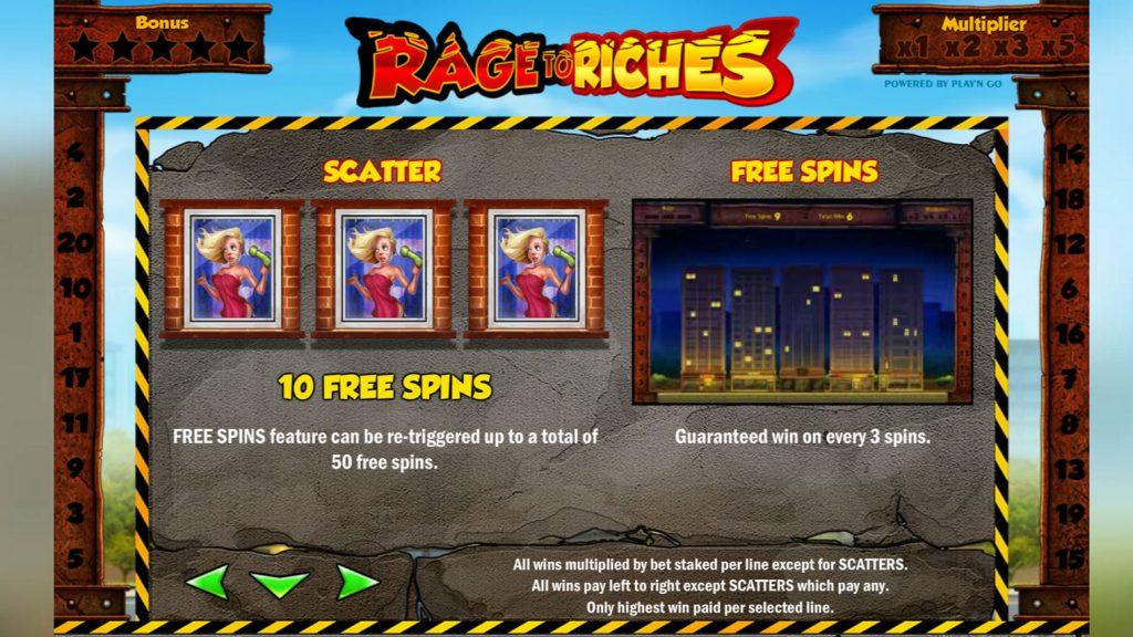 โบนัสสล็อตออนไลน์ Rage to Riches จากค่ายดังยอดฮิต ที่แจกโบนัสเยอะมากๆ