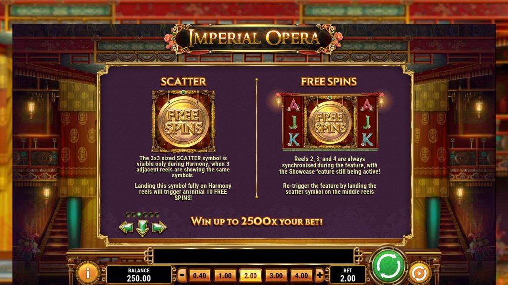 โบนัสสล็อตออนไลน์ Imperial Opera วิธีที่จะได้โบนัสนั้นง่ายมาก เพียงแค่เพื่อนๆ หมุนสล็อตออนไลน์แล้วได้สัญลักษณ์ตามที่สล็อตนั้นได้กำหนดเอาไว้