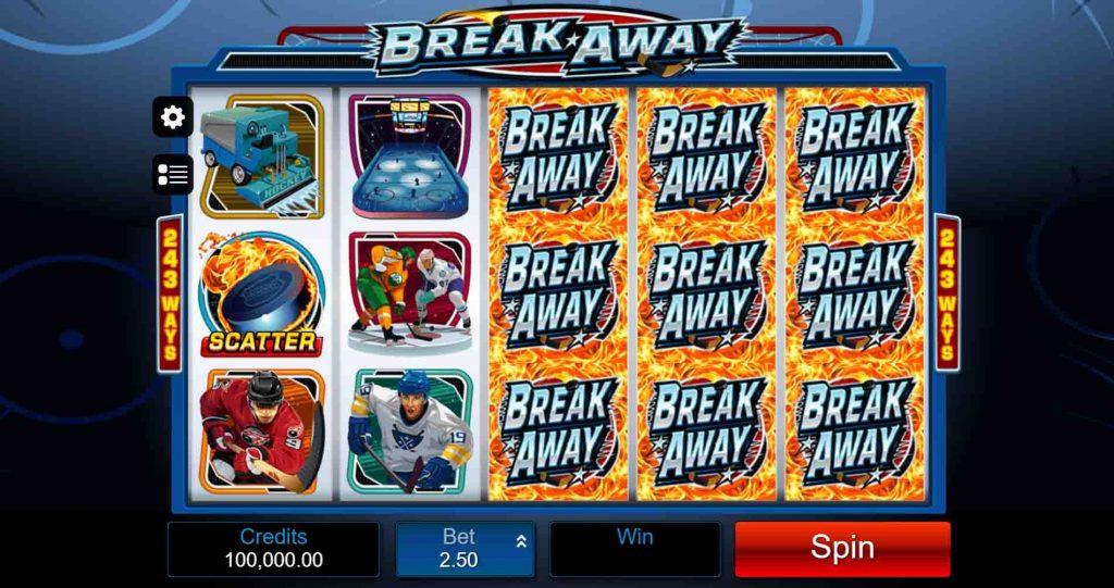 Break Away สล็อตออนไลน์ จากค่ายเกมชื่อดัง Microgaming ยอดฮิต ที่จะพาเพือนๆ ไปสนุก ตื่นเต้น และเพลิดเพลินไปกับกีฬาฮอกกี้น้ำแข็ง