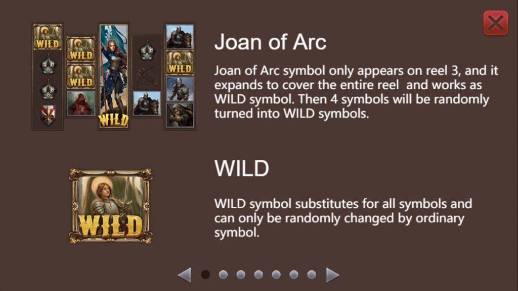 โบนัสสล็อตออนไลน์ Joan Of Arc ทุกคนที่เล่นสล็อตออนไลน์นี้ มีโอกาสที่จะได้โบนัสกันทุกคน