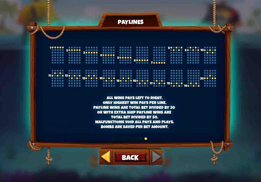Payline หรือเรียกอีกอย่างว่า เส้นแนวทาง ที่กำหนดให้สัญลักษณ์ที่ออกมากให้ตรงกับระบบได้กำหนดเอาไว้
