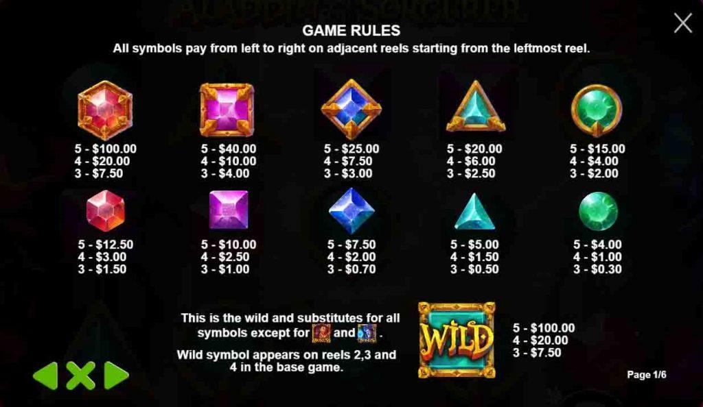 สัญลักษณ์สล็อตออนไลน์ Aladdin and the Sorcerer ที่ทำออกได้สวยงามและเข้ากับเกมสล็อตมากๆ