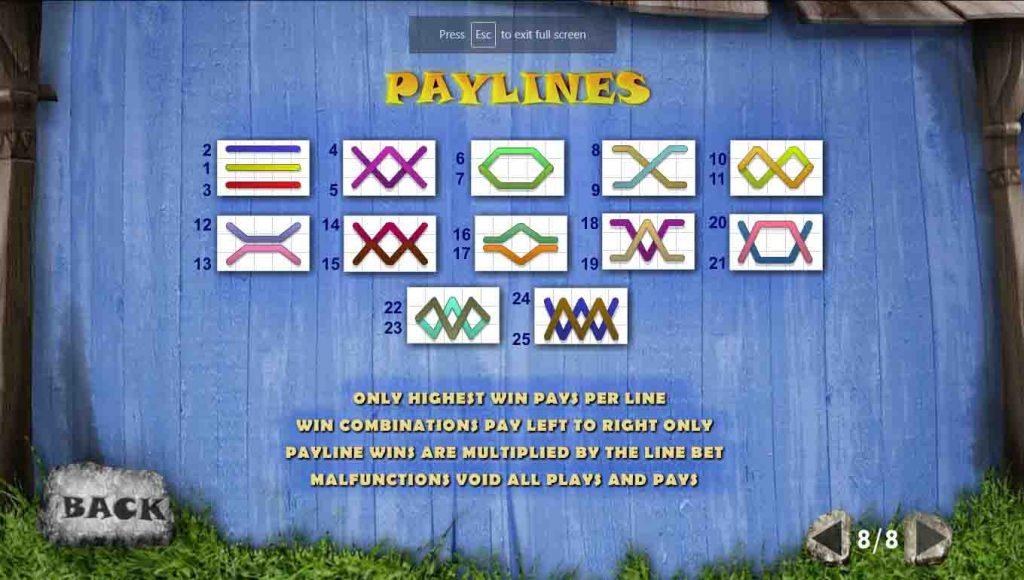 Payline หรือเส้นแนวทาง ของเกมสล็อตออนไลน์ FORTUNE HILL ที่จะทำให้เพื่อนมีโอกาสได้รางวัลมากขึ้น