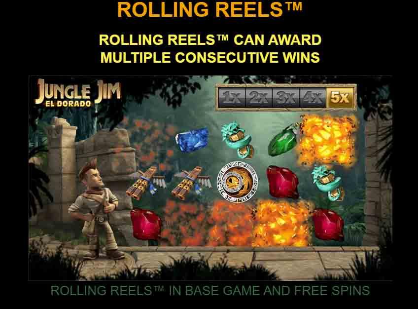สัญลักษณ์เกม Jungle Jim - El Dorado สล็อตออนไลน์ นำเสนอโดย Microgaming ที่มีสัญลักษณ์มากมายให้ค้นหา