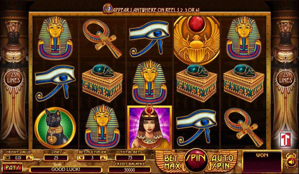 Cleopatra  สล็อตออนไลน์ หรือเรียกอีกอย่างว่า สล็อต ครีโอพัตตา จากค่ายเกมสล็อต top trend gaming