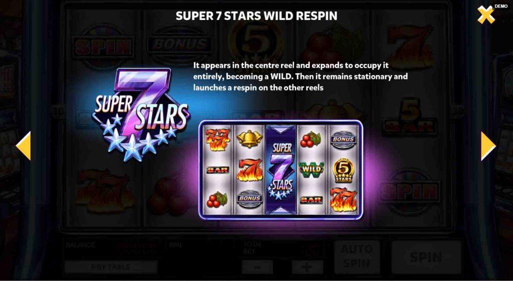 โบนัสเกมสล็อตออนไลน์ Super 7 Stars ที่ให่กำไรกับเพื่อนๆมาตลอด